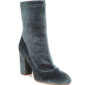 New Sam Edelman Calexa Velvet Block Heel Booties 8